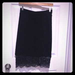 Free People Quilted Pencil Skirt